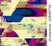 bstract vector background dot... | Shutterstock .eps vector #628489733