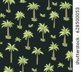 seamless tropical palm ... | Shutterstock .eps vector #628500053