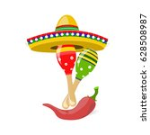 cinco de mayo. fun holiday .... | Shutterstock . vector #628508987