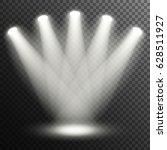 floodlights illuminate the... | Shutterstock .eps vector #628511927