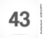number forty three  43 in... | Shutterstock .eps vector #628513997