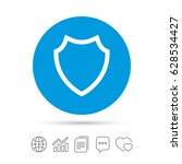 shield sign icon. protection... | Shutterstock .eps vector #628534427