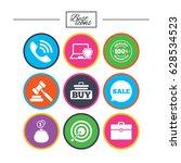 online shopping  e commerce and ... | Shutterstock .eps vector #628534523