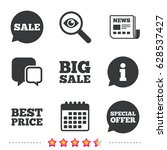 sale icons. special offer... | Shutterstock .eps vector #628537427