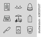 shop icons set. set of 9 shop... | Shutterstock .eps vector #628539107
