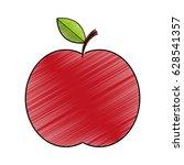 apple fresh fruit icon | Shutterstock .eps vector #628541357