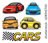 set of cars.   Shutterstock .eps vector #628542743