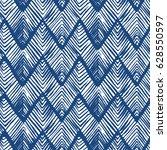 shibori zig zag indigo... | Shutterstock .eps vector #628550597