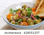 bowl of vegetable salad with...