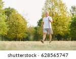 active senior man during... | Shutterstock . vector #628565747