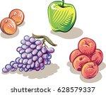 freshly picked ripe fruit. | Shutterstock .eps vector #628579337