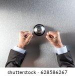 nervous hand gesture of... | Shutterstock . vector #628586267