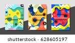 artistic funky design for print ... | Shutterstock .eps vector #628605197