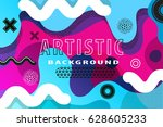 bright and high contrast... | Shutterstock .eps vector #628605233