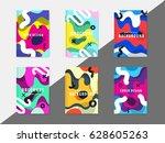 artistic funky design for print ...   Shutterstock .eps vector #628605263