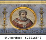 Small photo of ROME, ITALY - SEPTEMBER 05: Pope Alexander II, born Anselm of Baggio was pope from 30 September 1061 to his death in 1073., basilica of Saint Paul Outside the Walls, Rome, Italy on September 05, 2016.