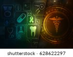 2d illustration health care and ... | Shutterstock . vector #628622297