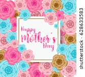 mother's day banner with... | Shutterstock .eps vector #628633583