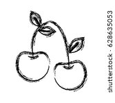 figure delicious cherry healthy ... | Shutterstock .eps vector #628635053