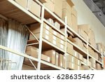 boxes with goods in wholesale...   Shutterstock . vector #628635467
