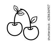 line delicious cherry healthy... | Shutterstock .eps vector #628636907