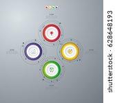 infographics template four... | Shutterstock .eps vector #628648193