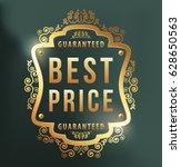 high quality luxury golden... | Shutterstock .eps vector #628650563