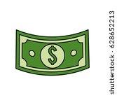 green bill dolar money | Shutterstock .eps vector #628652213