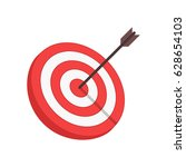 target with arrow in modern... | Shutterstock .eps vector #628654103