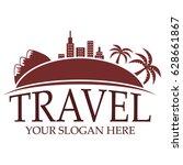 travel logo template   Shutterstock .eps vector #628661867
