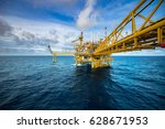 industrial offshore oil and gas ... | Shutterstock . vector #628671953