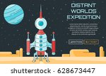 flat vector web background on... | Shutterstock .eps vector #628673447