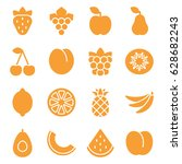 set of fruits icons. vector... | Shutterstock .eps vector #628682243