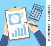 finance report business... | Shutterstock .eps vector #628686053