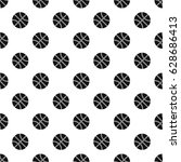basketball ball pattern... | Shutterstock .eps vector #628686413
