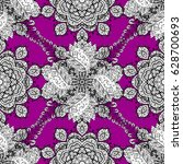 seamless pattern with floral... | Shutterstock . vector #628700693