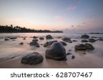 tropical paradise beach with... | Shutterstock . vector #628707467