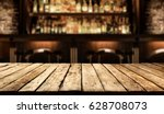 desk of free space in bar  | Shutterstock . vector #628708073