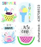 summer lettering scandinavian... | Shutterstock .eps vector #628708523