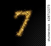 gold glittering number seven....