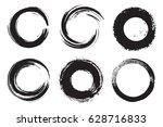 vector grunge circles.grunge... | Shutterstock .eps vector #628716833