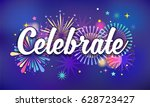 celebrate  victory background ... | Shutterstock .eps vector #628723427