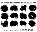 12 Grunge Backgrounds Vector...