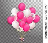 big bunch of festive pink ... | Shutterstock .eps vector #628731797