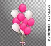 bunch of festive pink  white... | Shutterstock .eps vector #628731803