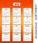 simple color calendar for the... | Shutterstock .eps vector #628739837