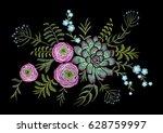 delicate pink ranunculus... | Shutterstock .eps vector #628759997