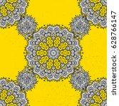 white element on yellow... | Shutterstock .eps vector #628766147