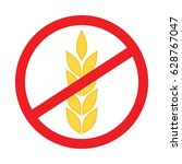 no wheat sign   gluten free... | Shutterstock .eps vector #628767047
