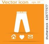 flat icon. pants.   Shutterstock .eps vector #628777577
